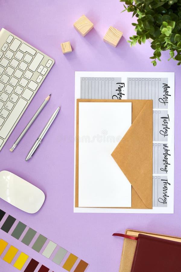 Diseñadores Flatlay imagen de archivo