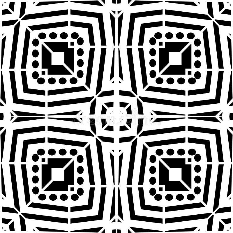 Diseñe la cultura decorativa de la alfombra del vector del modelo de la cebra geométrica blanca del negro ilustración del vector