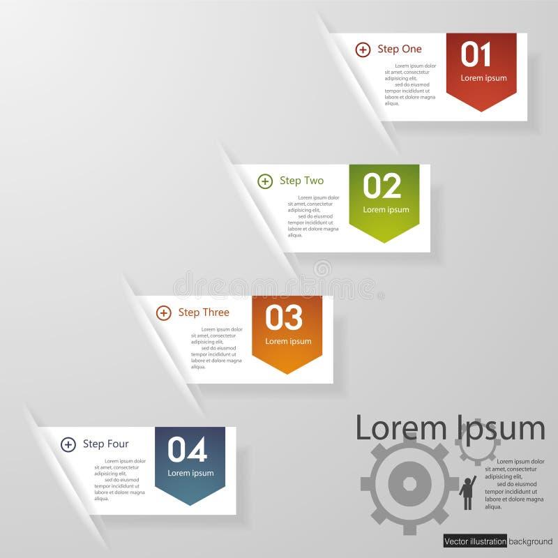 Diseñe la plantilla de las banderas del número/el gráfico o la disposición limpio del sitio web. ilustración del vector