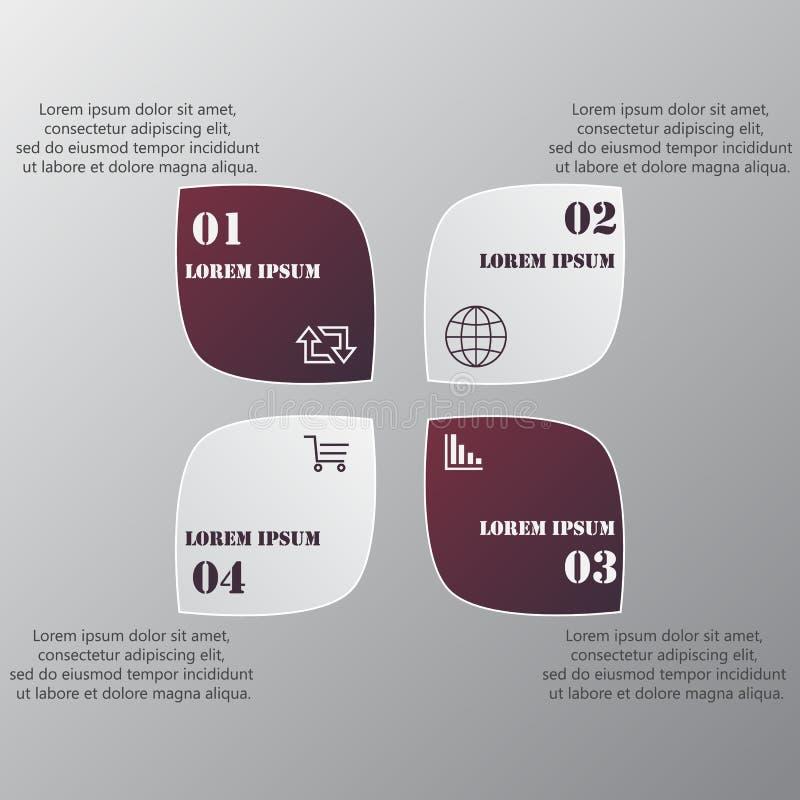Diseñe la plantilla de las banderas del número, el gráfico o la disposición limpio del sitio web stock de ilustración