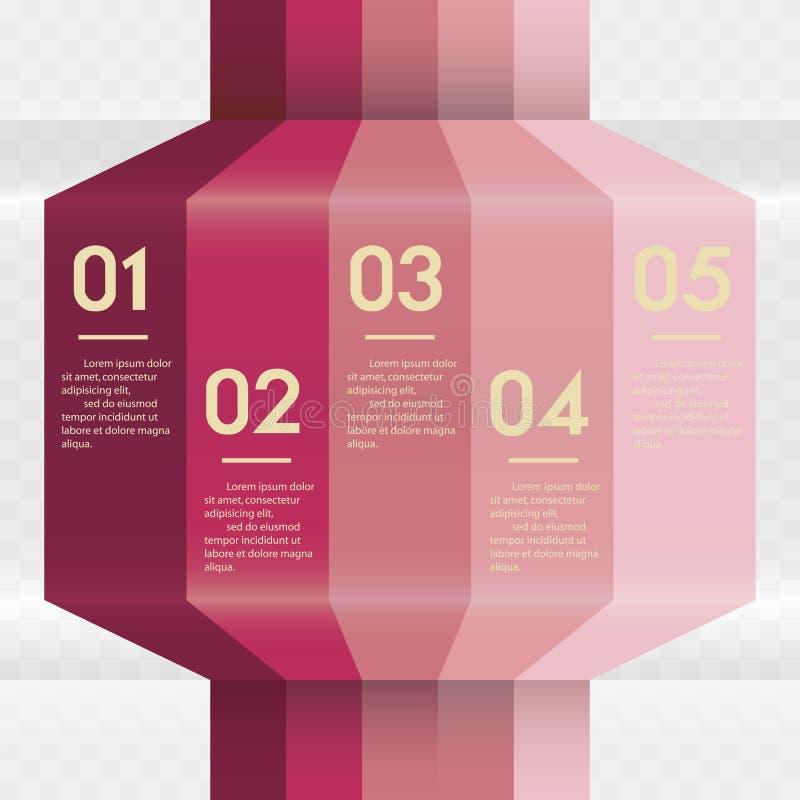 Diseñe la plantilla de las banderas del número/la disposición limpia del gráfico o del Web site ilustración del vector