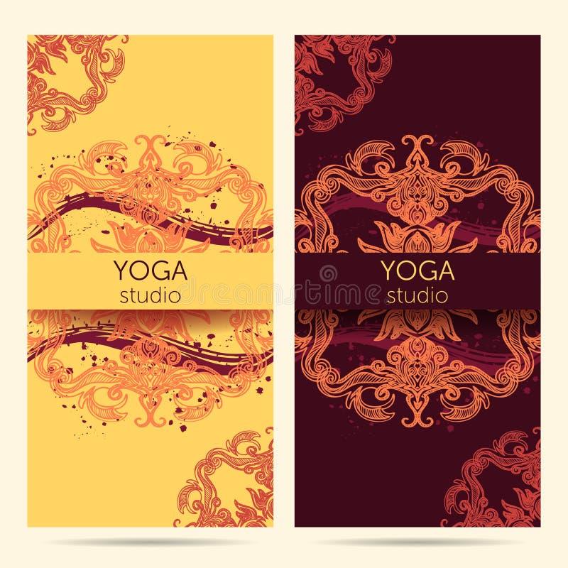 Diseñe La Plantilla Para El Estudio De La Yoga Con El Fondo Del ...