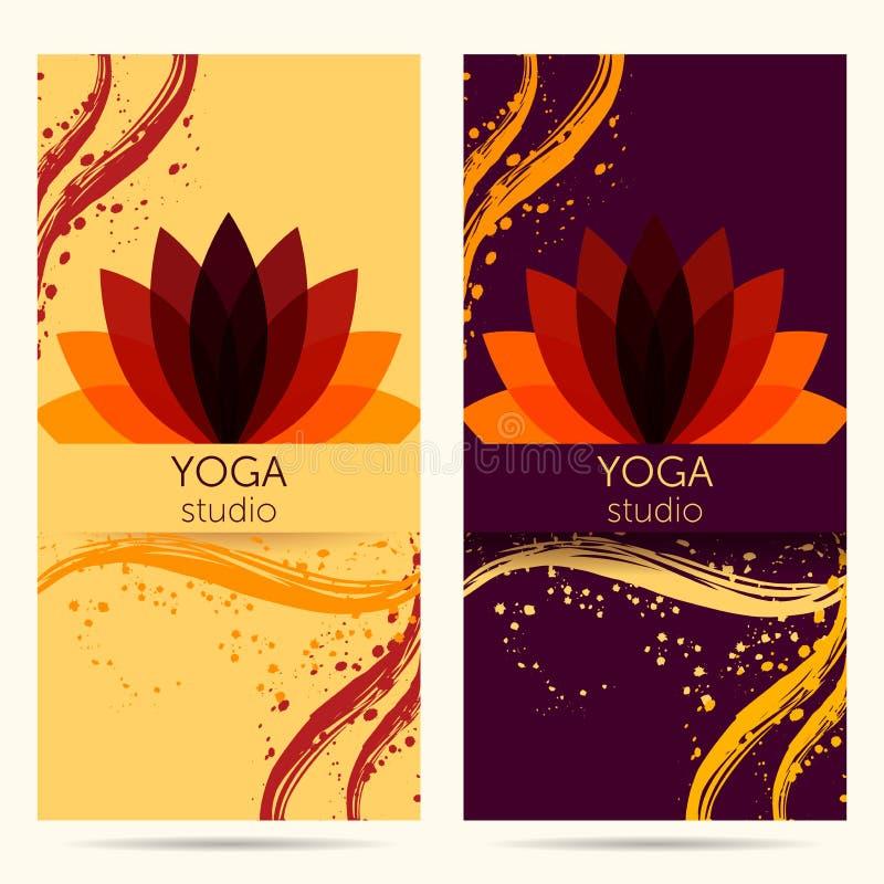 Diseñe La Plantilla Para El Estudio De La Yoga Con La Flor De Loto ...