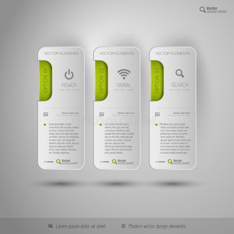 Diseñe los elementos, el infographics, la disposición y las páginas web Symb moderno libre illustration