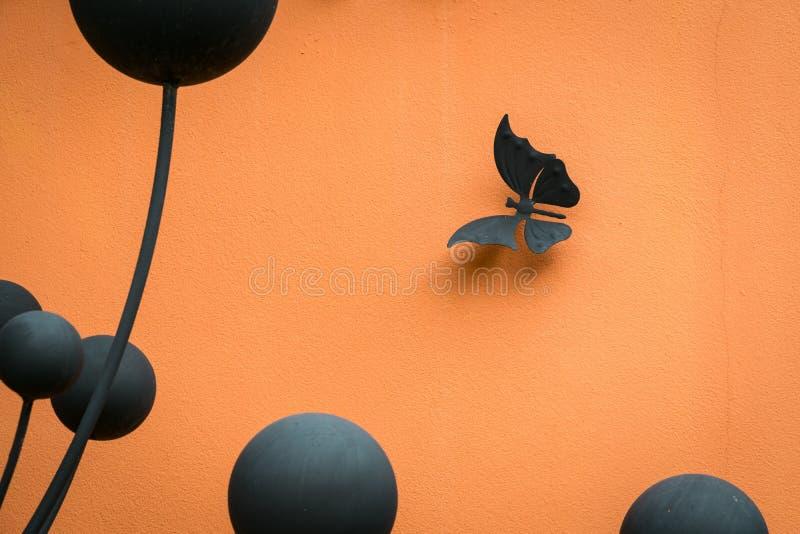 Diseñe para la pared, mariposas blancas, extracto, creativo foto de archivo libre de regalías