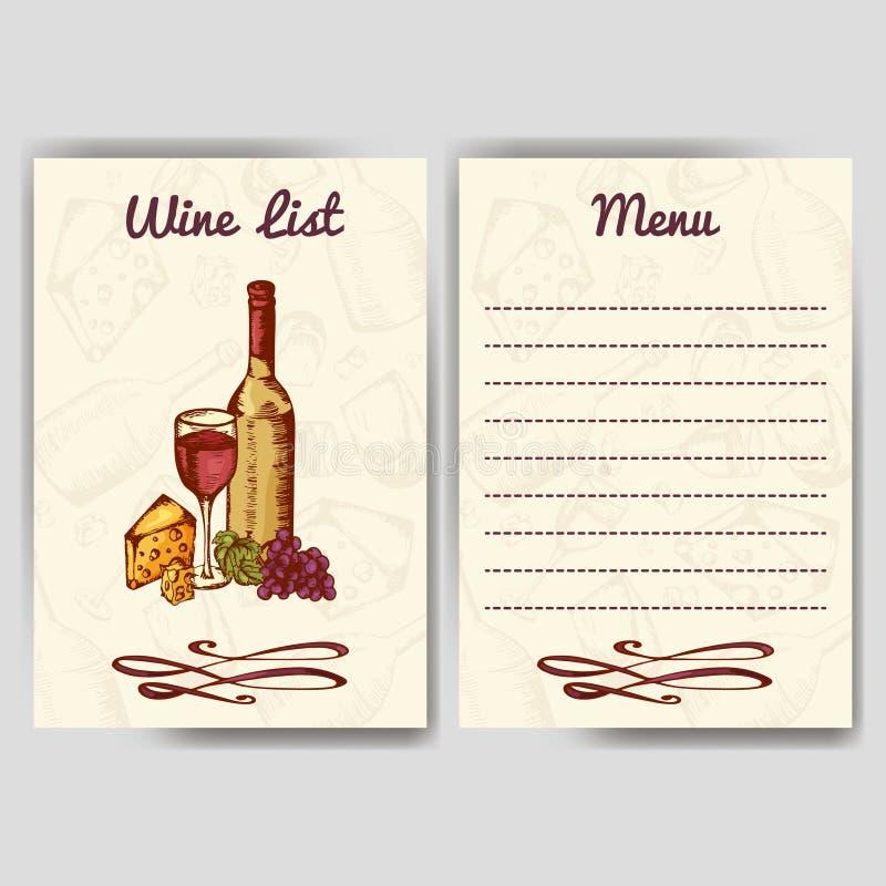 Diseñe Para La Plantilla Del Restaurante De La Carta De Vinos Para ...