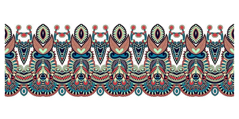 Diseño étnico de la decoración del modelo, ornamento de la raya a imprimir ilustración del vector