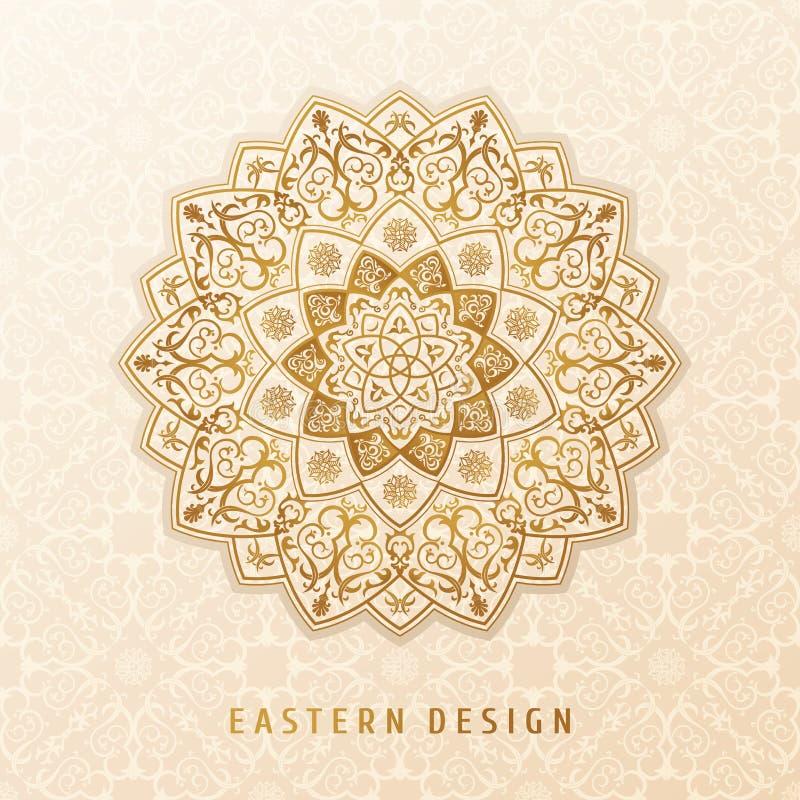 Diseño étnico de la mandala del modelo del vector para las invitaciones, tarjetas, etiquetas Plantilla redonda del logotipo y de  ilustración del vector