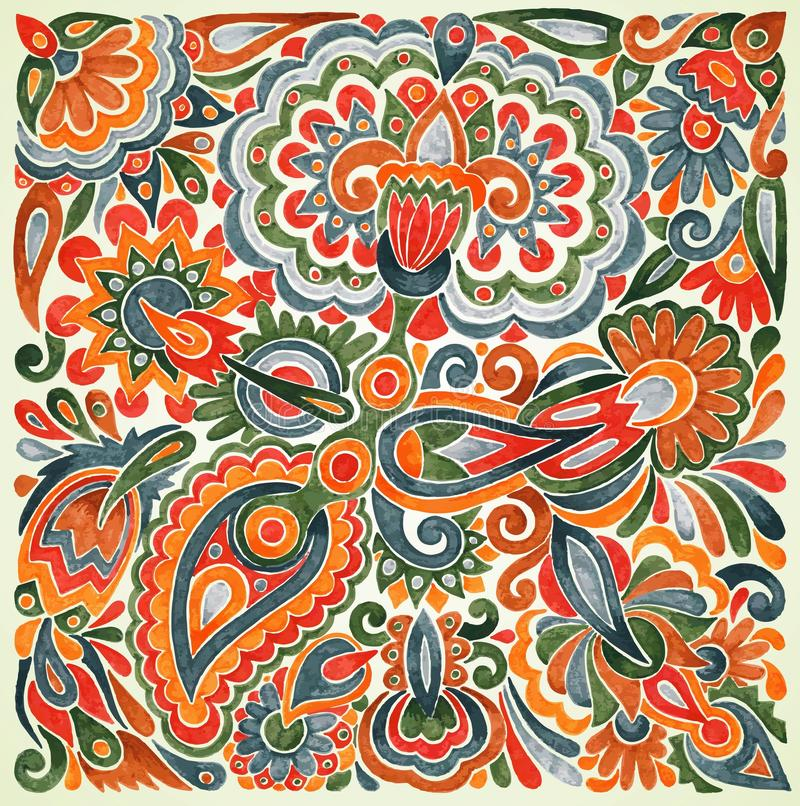 Diseño étnico floral ilustración del vector