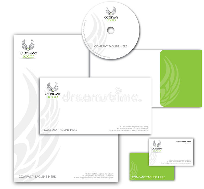 Diseño 001 de la identidad corporativa ilustración del vector