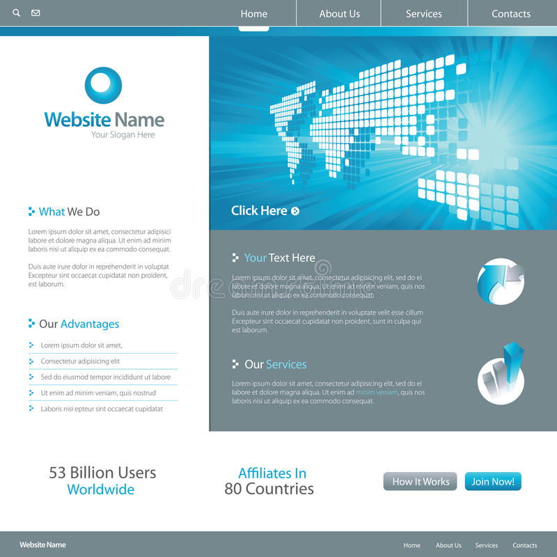 Diseño 7 del Web site ilustración del vector