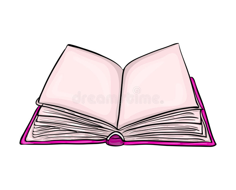 Diseño abierto del icono del símbolo del vector de la historieta del libro Illustrat hermoso stock de ilustración