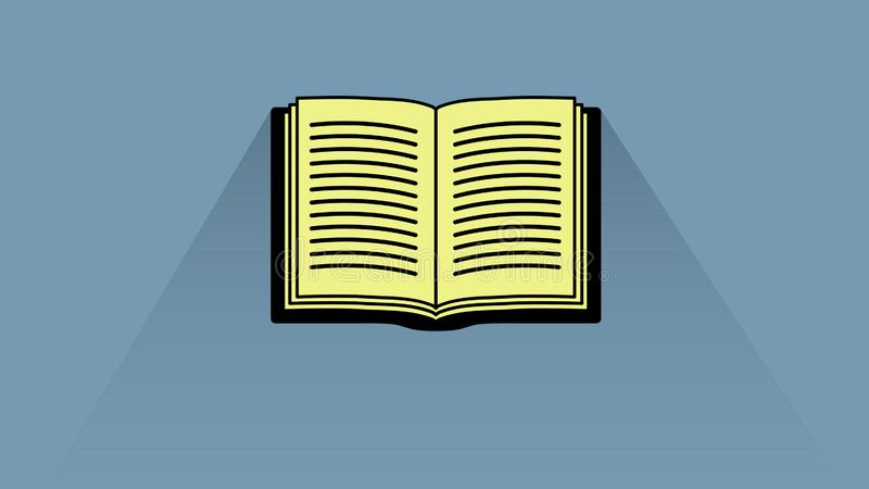 Diseño abierto del icono del libro fotos de archivo