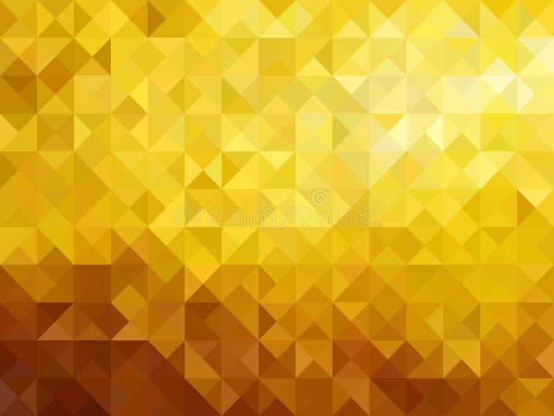 Diseño abstracto agudo del ejemplo del vector del fondo del triángulo polivinílico bajo del oro stock de ilustración