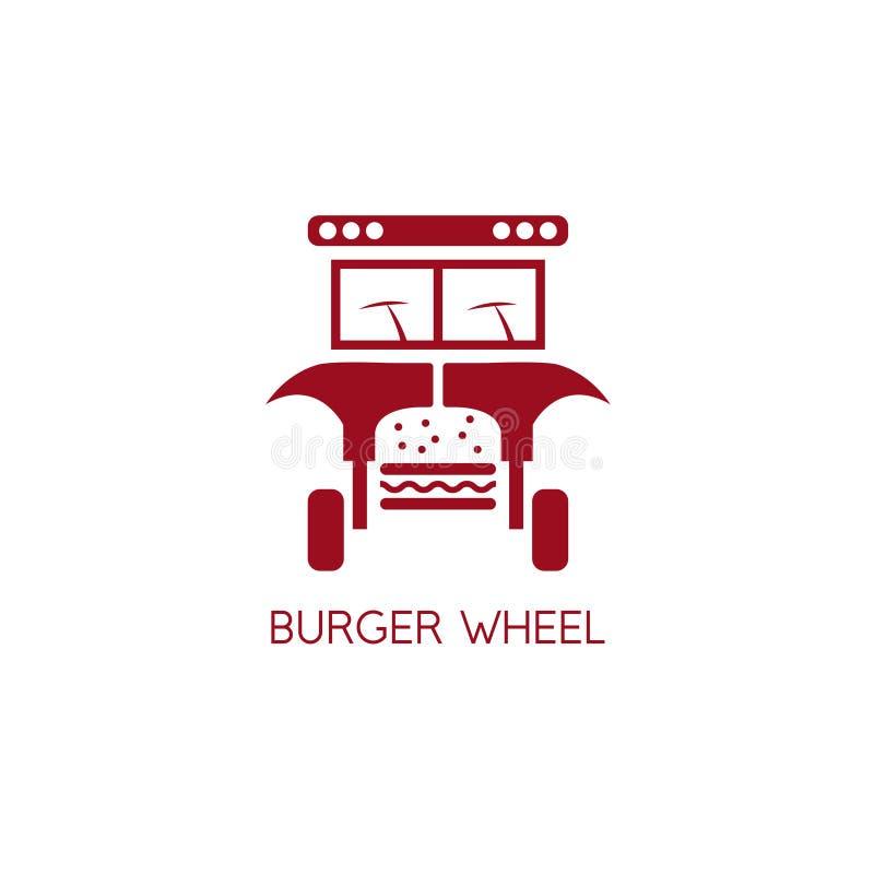 Diseño abstracto auto del vector del concepto de la hamburguesa ilustración del vector