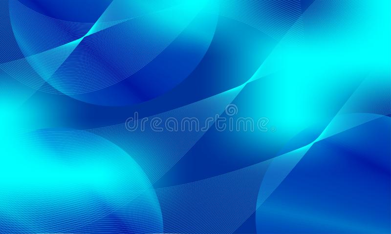Diseño abstracto azul del vector del fondo, fondo sombreado borroso colorido ilustración del vector
