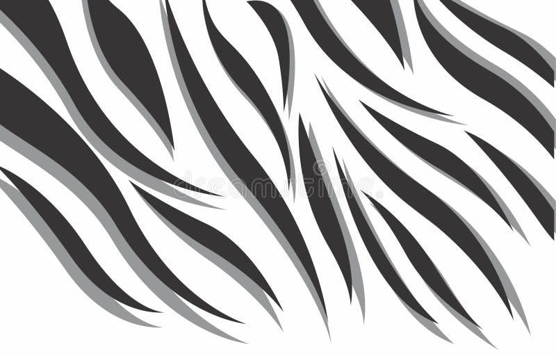 Diseño abstracto blanco y negro del vector de la cebra 3d ilustración del vector
