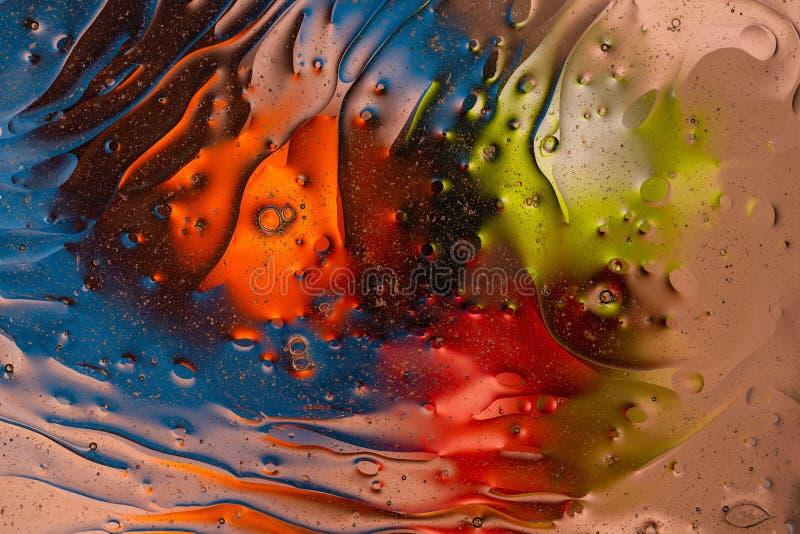 Diseño abstracto colorido verde, rojo, azul, anaranjado, negro, amarillo, textura Fondos hermosos fotografía de archivo