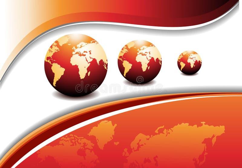 Diseño abstracto con el globo. Ilustración del vector libre illustration