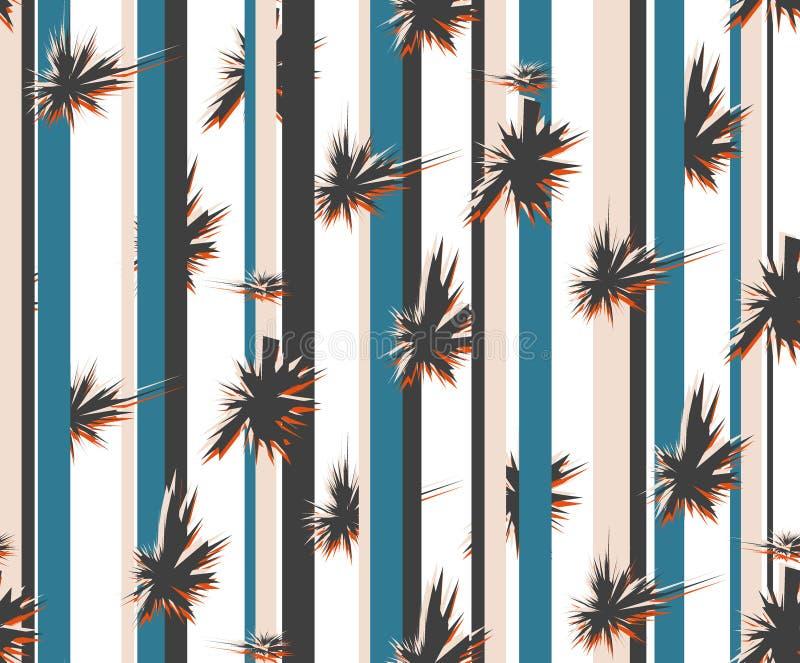 Diseño abstracto con la línea de color para la materia textil, el fondo y otros más Modelo incons?til ilustración del vector