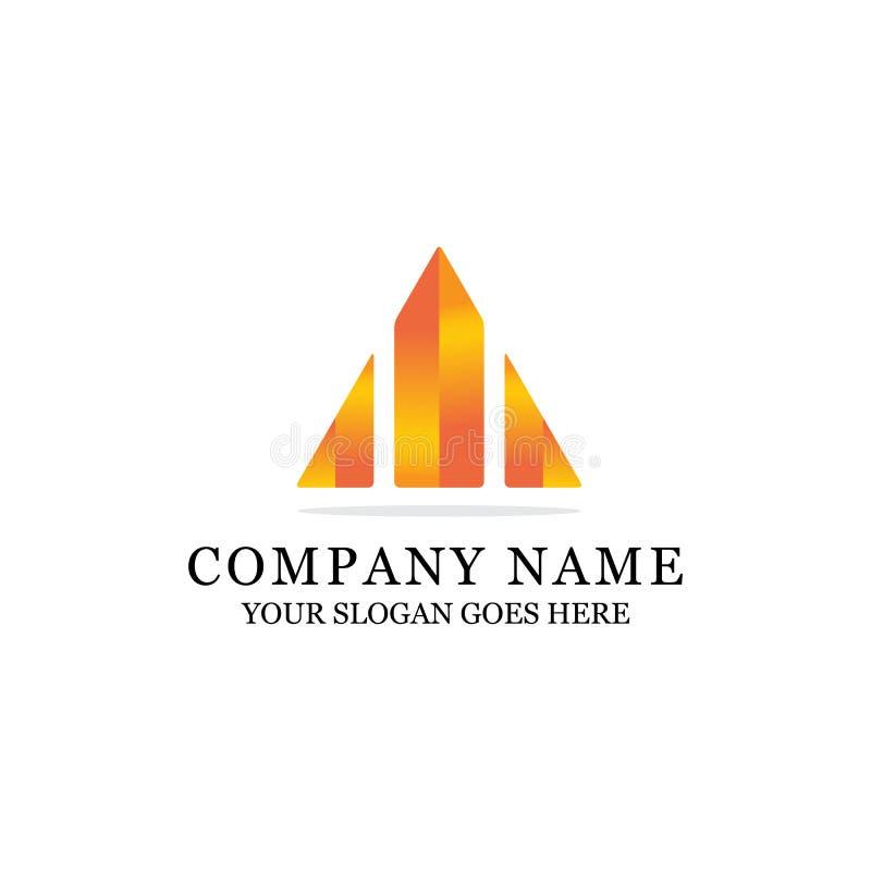 Diseño abstracto constructivo colorido del logotipo ilustración del vector