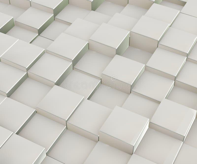 diseño abstracto 3d de cajas del bloque del cubo libre illustration