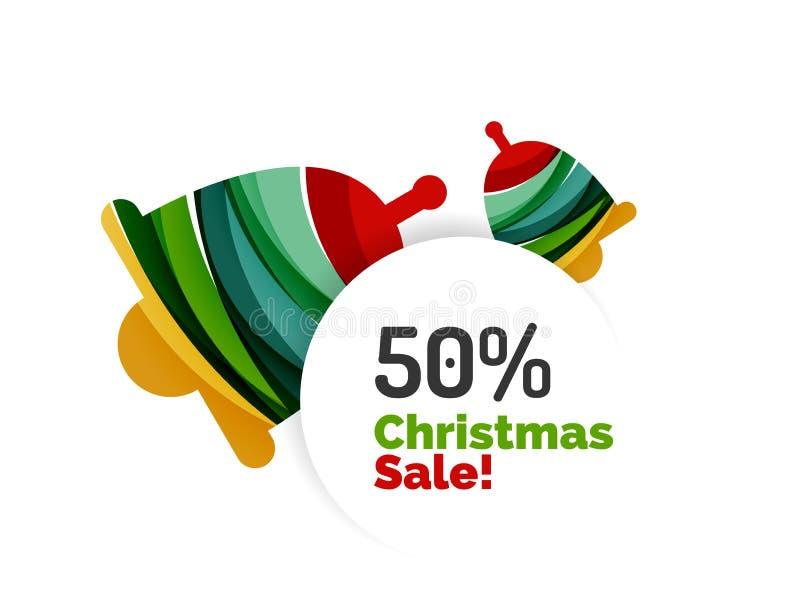 Diseño abstracto de la bandera de la venta de la Navidad con el espacio en blanco ilustración del vector