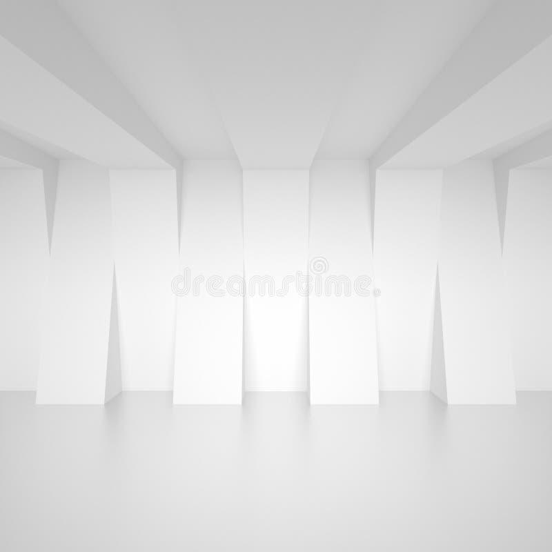 Diseño abstracto de la configuración Fondo moderno mínimo Blanco I libre illustration