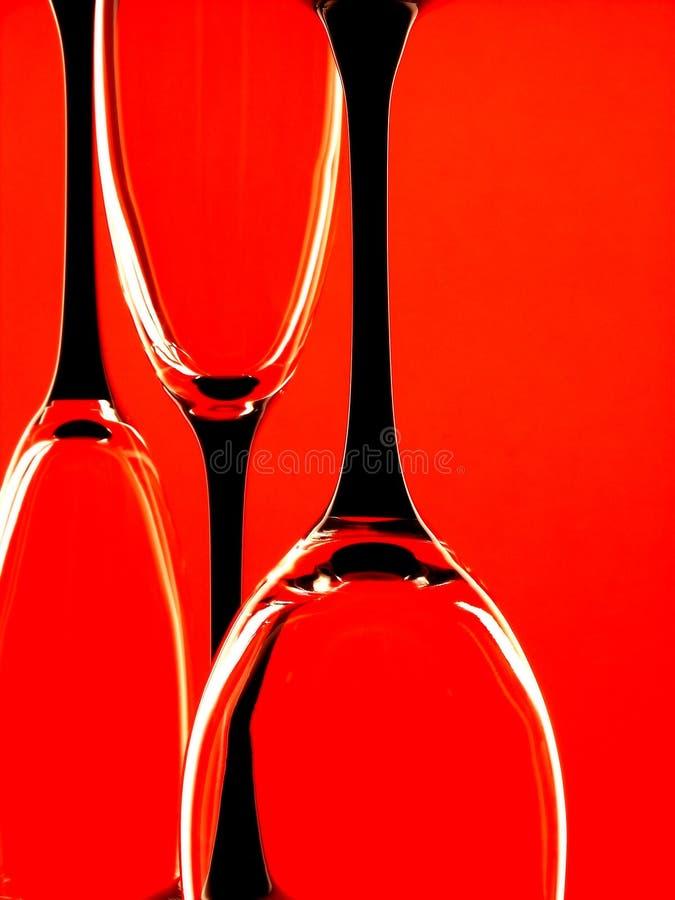 Diseño abstracto de la cristalería foto de archivo libre de regalías