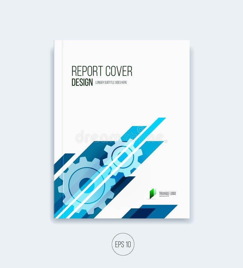 Diseño abstracto de la cubierta, disposición de la plantilla del folleto del negocio, informe stock de ilustración