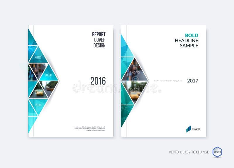 Diseño abstracto de la cubierta, disposición de la plantilla del folleto del negocio, informe libre illustration