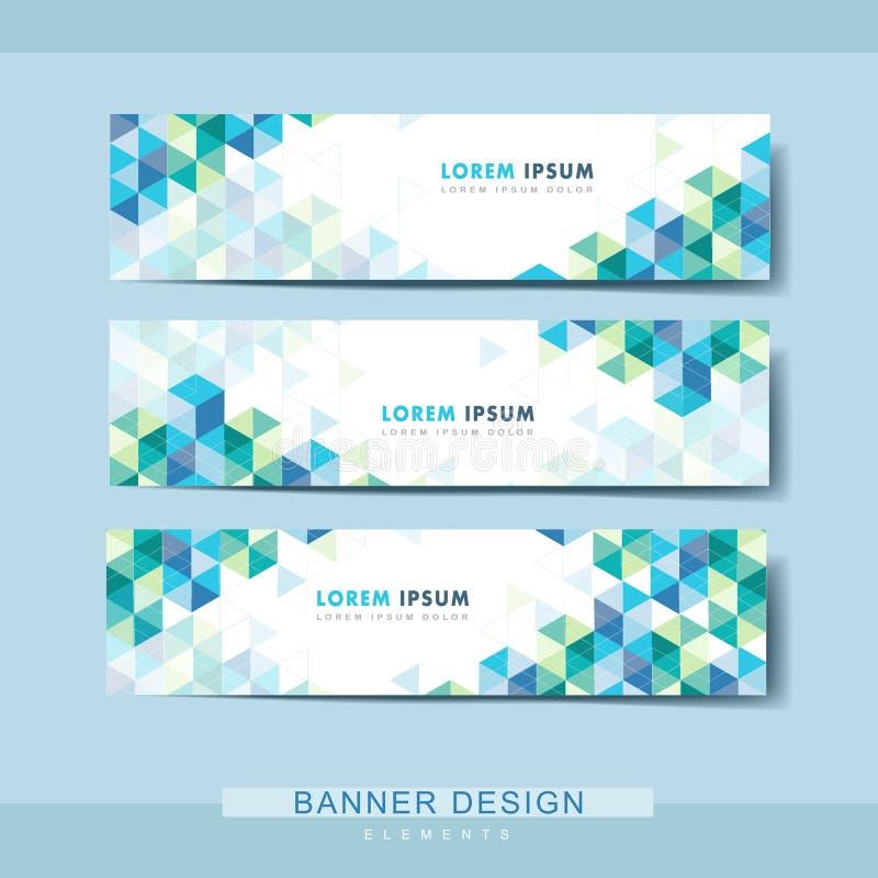 Diseño abstracto de la plantilla de la bandera stock de ilustración