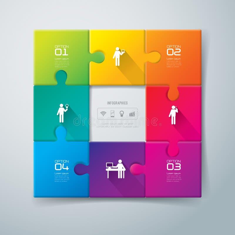 Diseño abstracto de la plantilla del infographics. ilustración del vector