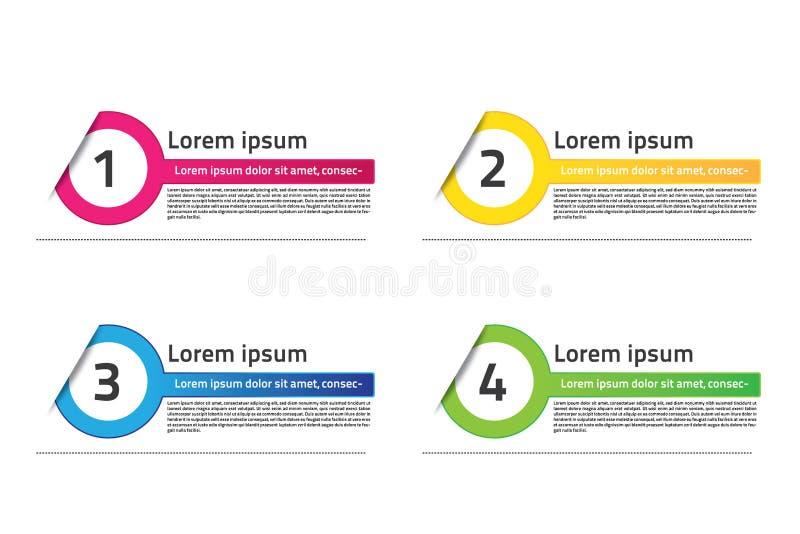 Diseño abstracto de la plantilla del infographics del círculo stock de ilustración
