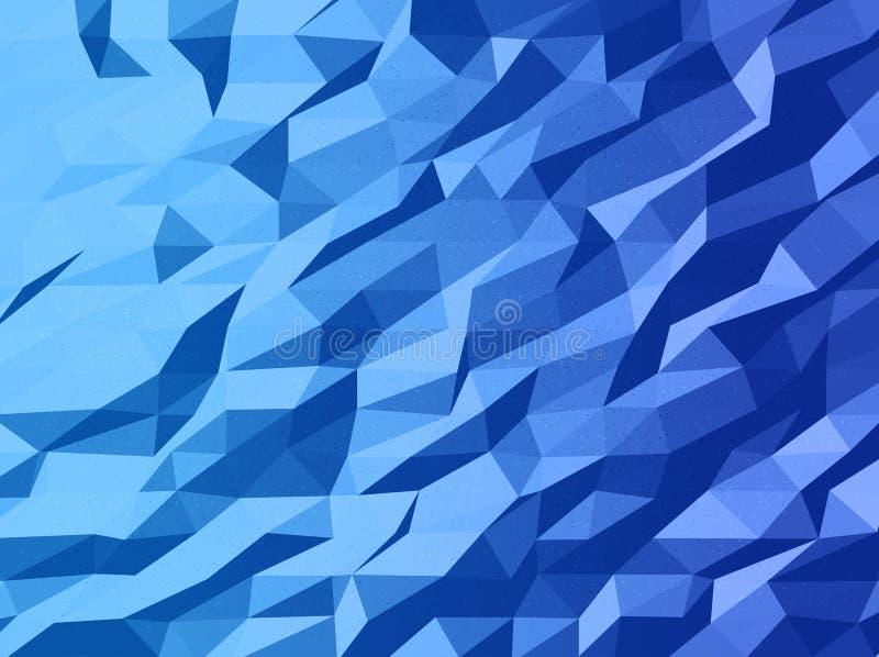 Diseño abstracto de la plantilla del vector con el fondo triangular geométrico colorido para el folleto, sitios web, prospecto libre illustration