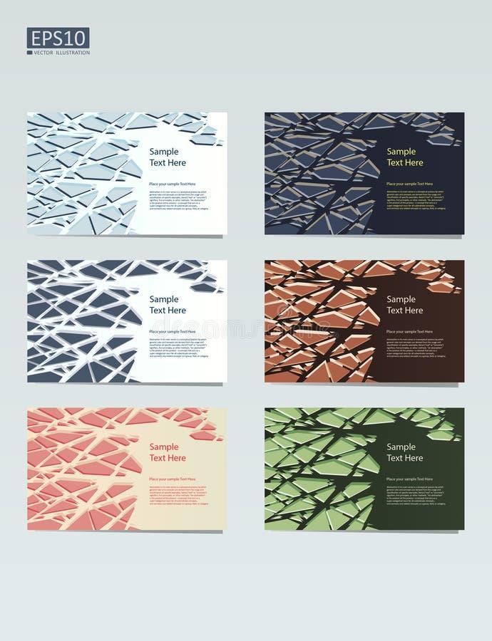 Diseño abstracto de la plantilla del vector, folleto, sitios web, página, prospecto, con los fondos geométricos coloridos ilustración del vector
