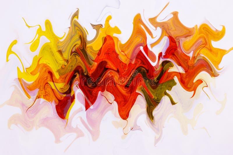 Diseño abstracto de ondas coloridas Línea de color de la cinta del arco iris fondo del efecto Formas del extracto de la cinta del fotos de archivo libres de regalías