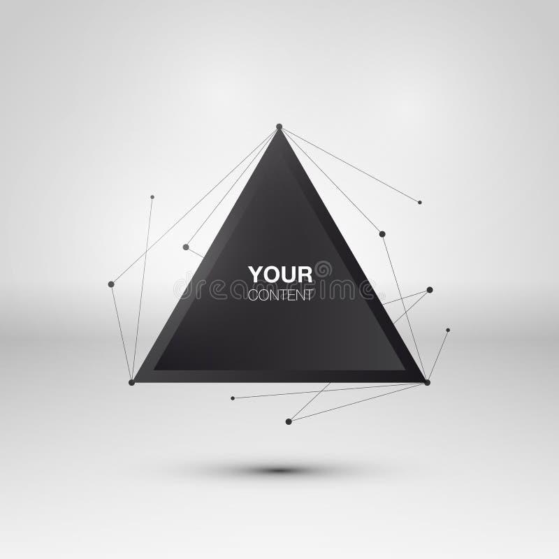 Diseño abstracto del cuadro de texto del triángulo stock de ilustración