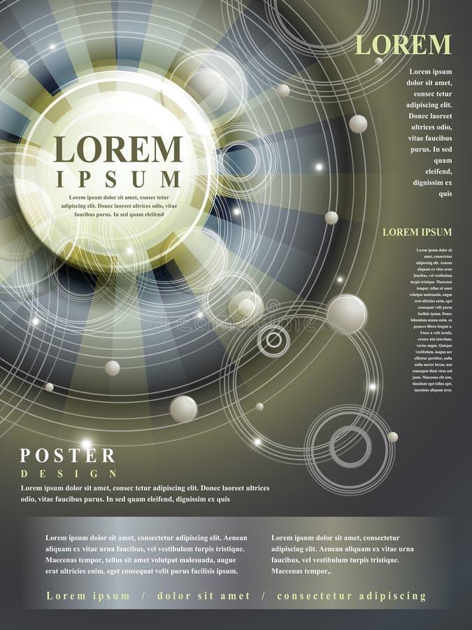 Diseño abstracto del estilo de Egipto para el cartel ilustración del vector