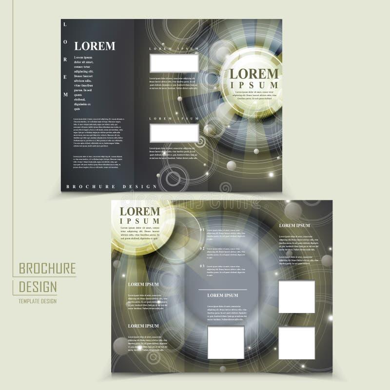 Diseño abstracto del estilo de Egipto para el folleto triple stock de ilustración