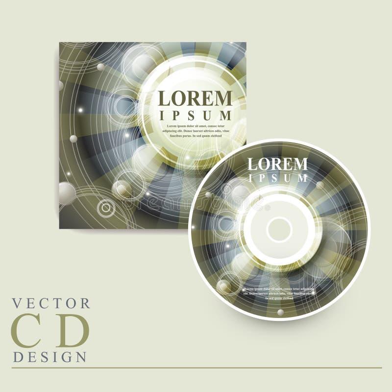 Diseño abstracto del estilo de Egipto para la cubierta CD stock de ilustración