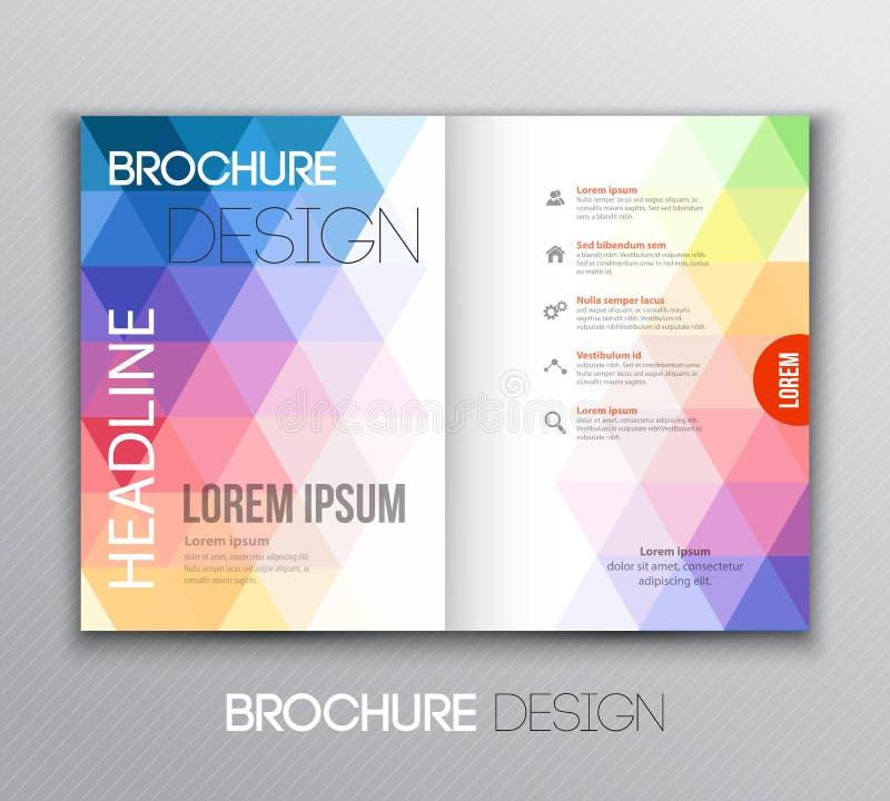 Diseño abstracto del folleto de la plantilla con el fondo geométrico libre illustration