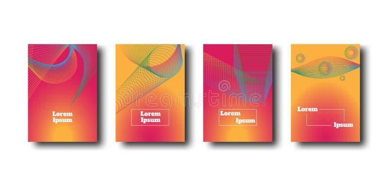 Diseño abstracto del fondo del color de la forma de la mezcla Diseño geométrico de la pendiente del vector para la bandera, poste ilustración del vector