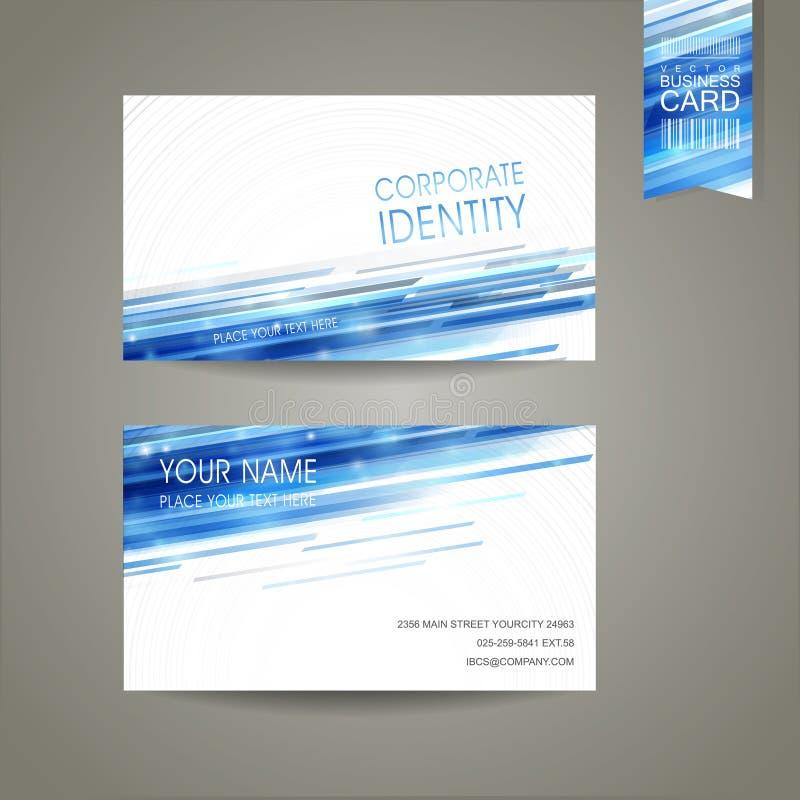 Diseño abstracto del fondo de la tecnología para la tarjeta de visita ilustración del vector