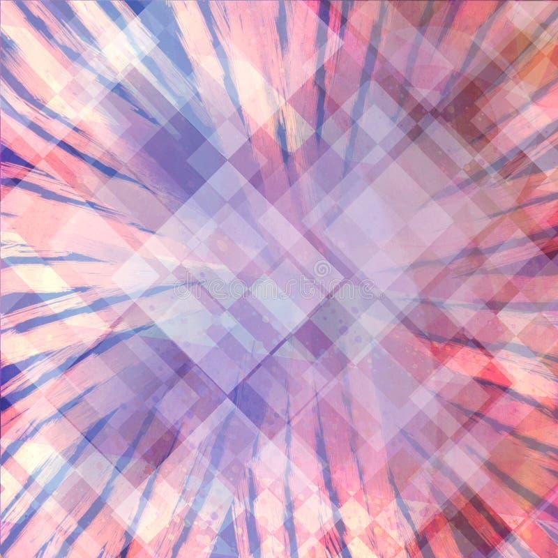 Diseño abstracto del fondo del arte moderno con capas del starburst o del resplandor solar y del diamante libre illustration