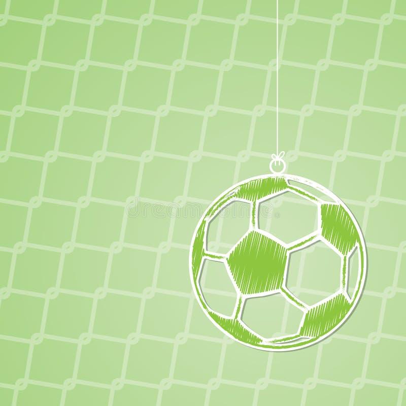 Diseño abstracto del fondo del fútbol con la bola de la ejecución libre illustration