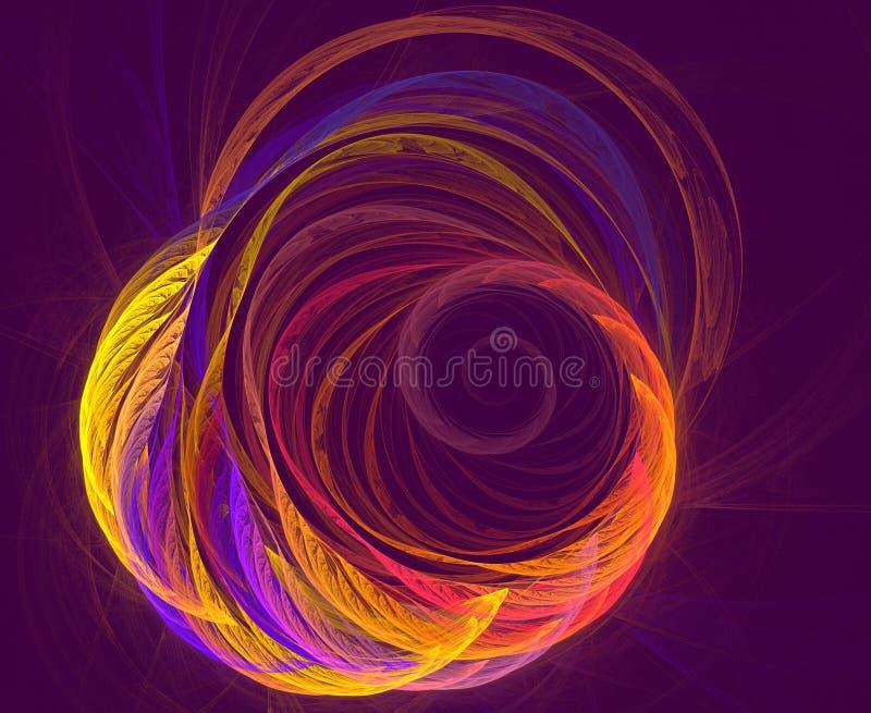Diseño abstracto del fractal Fondo ondulado futurista abstracto ilustración del vector