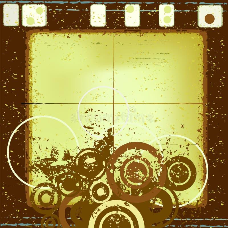 Diseño abstracto del grunge stock de ilustración