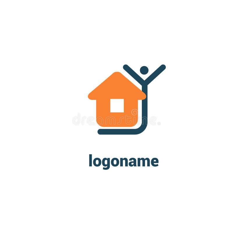 Diseño abstracto del icono del logotipo del agente inmobiliario Alquiler, venta del logotipo de las propiedades inmobiliarias stock de ilustración