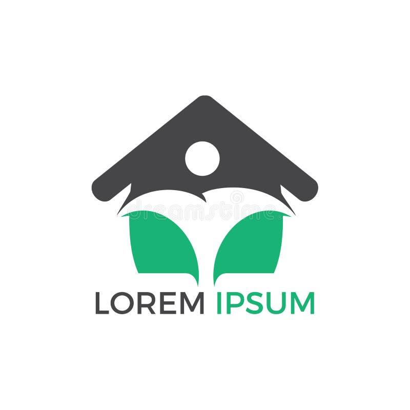 Diseño abstracto del logotipo del agente inmobiliario ilustración del vector
